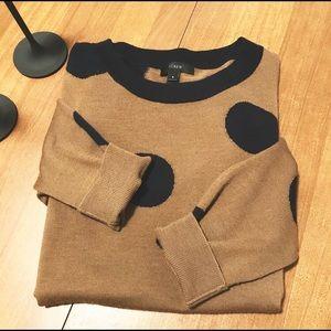 J. Crew Tippi Polka Dot Wool Sweater